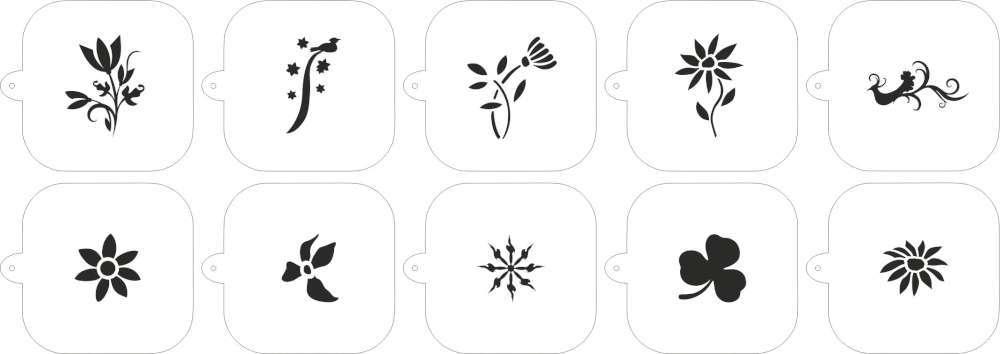 Caff stencil fiori f lli gregorio for Stencil da stampare per cucina